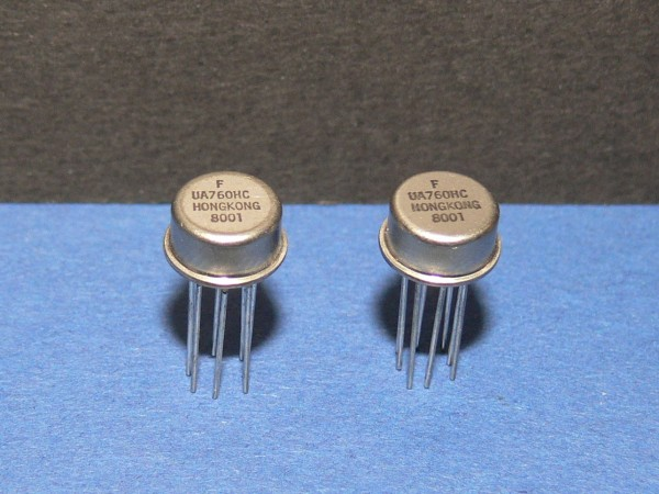 Fairchild UA760HC High Speed Differential Comparator IC Lot mit 2 Stk