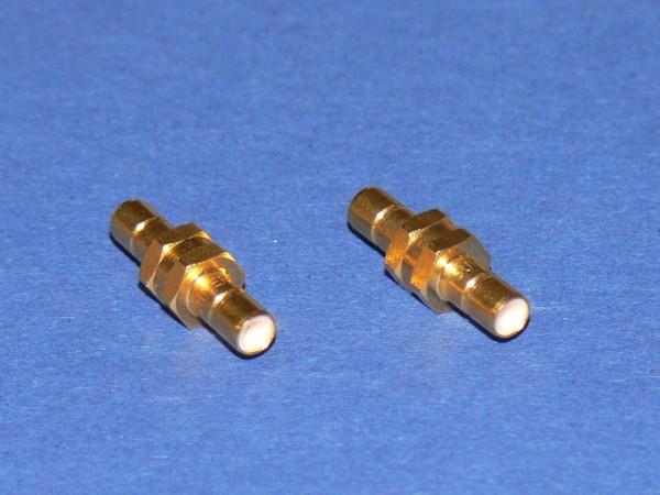 SUHNER 31 SMB-50-0-1 SMB Verbinder Stecker - Stecker / Male - Male vergoldet